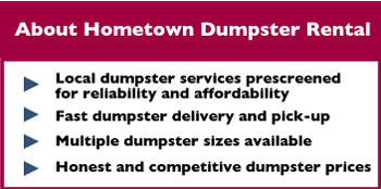About Hometown Dumpster Rental Torrance